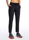 Stretch Drawstring 7/8 Pants with Pockets