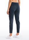 Feathery-Fit & Tapered Leg Sweatpants with Pockets 27''