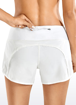 Feathery-Fit Workout Shorts with Flat Waist 4''