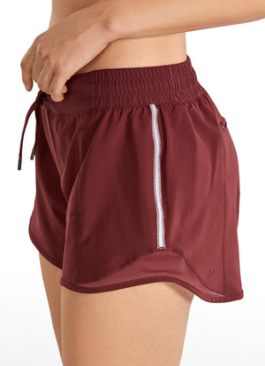 Feathery-Fit Running Shorts with Drawstring 4''
