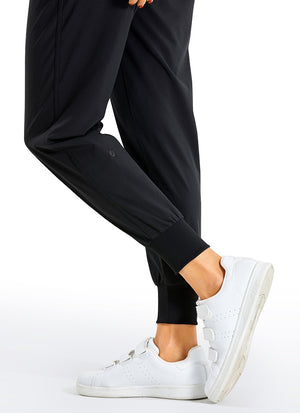 Feathery-Fit Drawstring Jogger with Pockets 27.5'' - Flat Waistband
