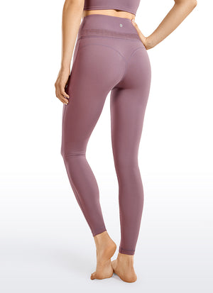 Naked Feeling Soft Yoga Leggings Reflective Waist Band 25""