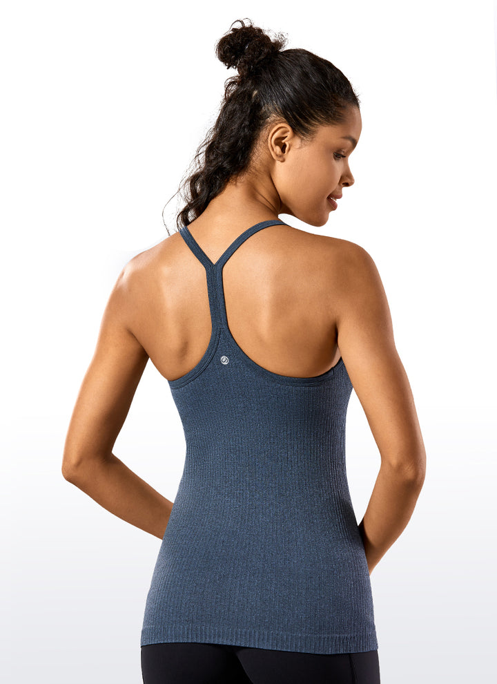 Speedy Seamless Y-back Tank Built in Bra - CRZ YOGA