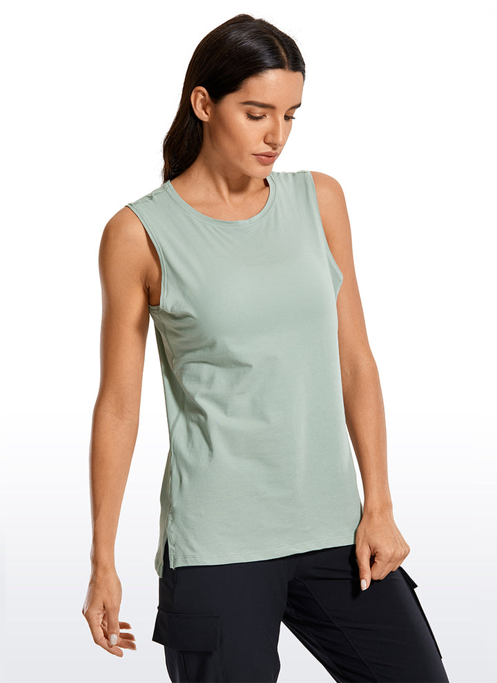 Pima Cotton Muscle Tank - CRZ YOGA