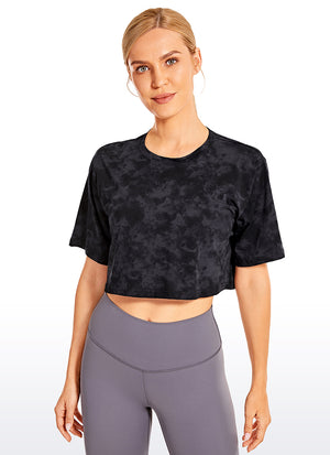 Pima Cotton Short Sleeves Crop