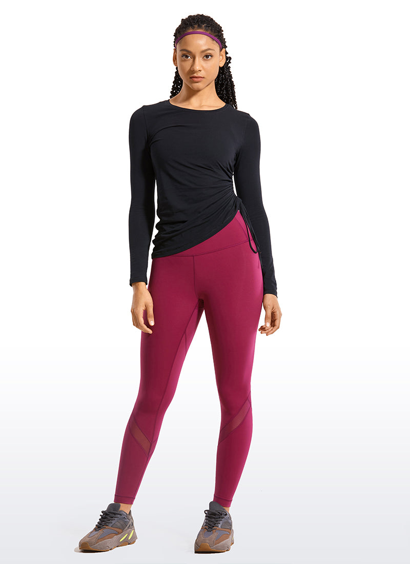 Pima Cotton Long Sleeves Cinched Side - CRZ YOGA