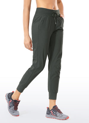 Ripstop Hiking Drawstring Jogger with Pockets 27.5'' - CRZ YOGA