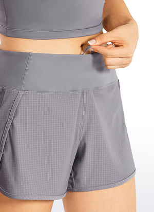 Feathery-Fit Workout Shorts with Zip Pocket 4''