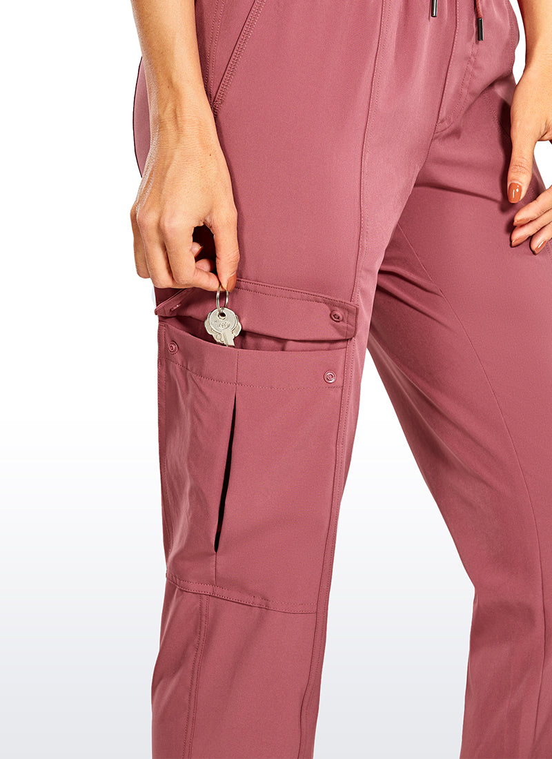 Feathery-Fit workout Drawstring Pants with Pockets 28''