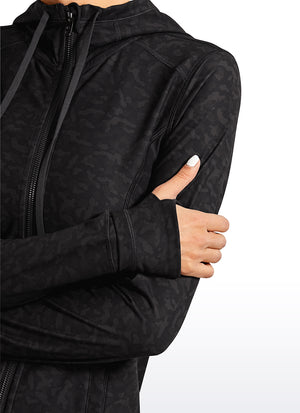 Light Fleece Brushed Full Zip Hoodies