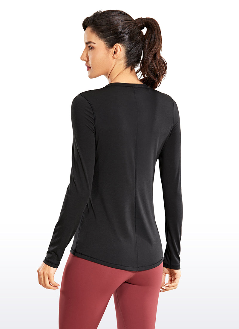 Workout Slim-fit Long Sleeves Round Neck