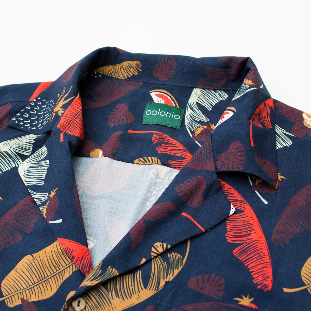 Load image into Gallery viewer, Botanico Camp-Collar Shirt