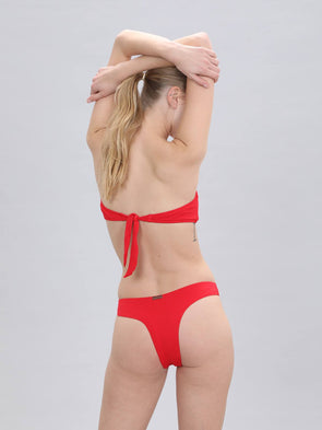 Women's Brazilian Bikini Bottom Red Swimwear