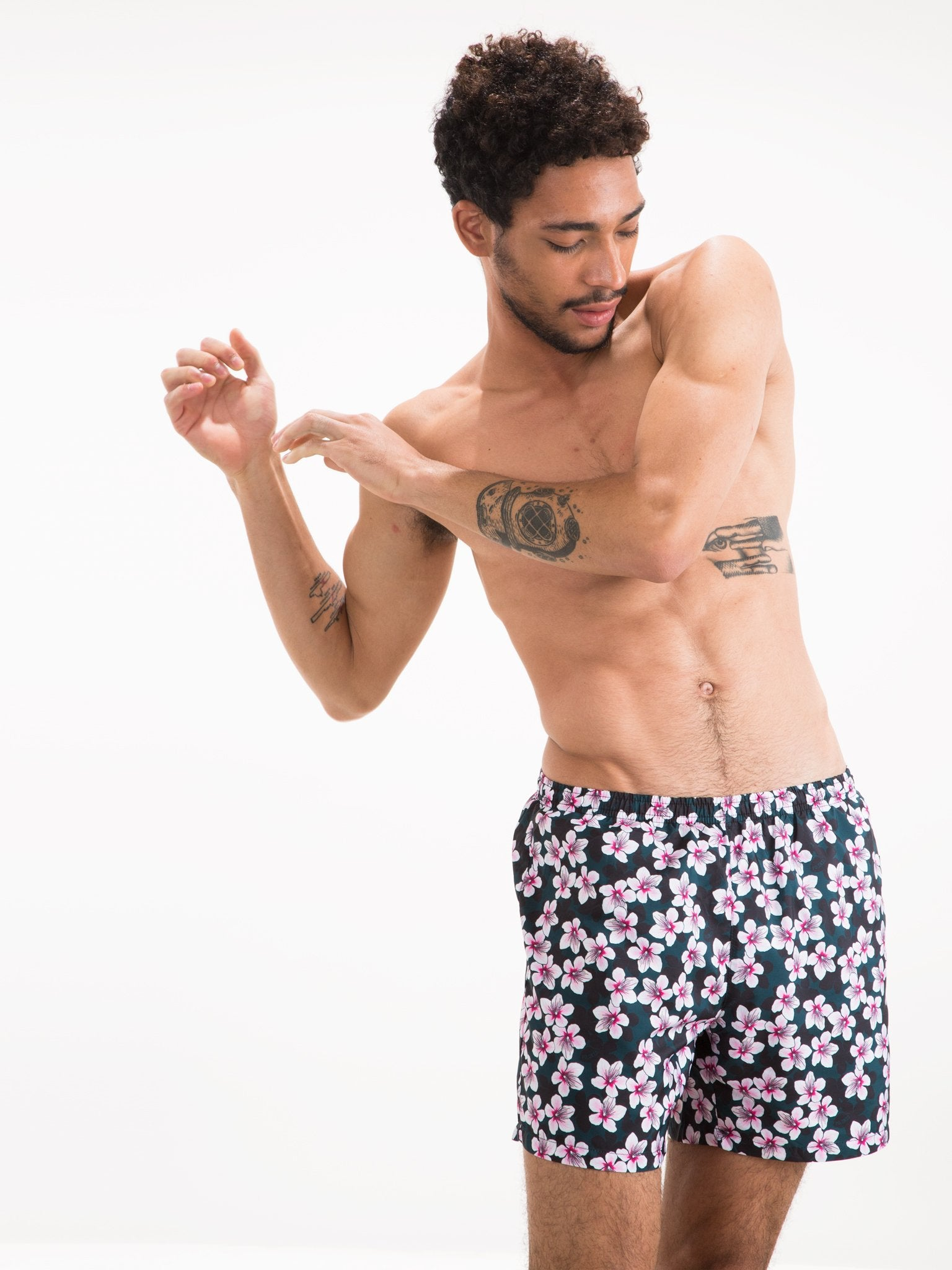 965a1bfdc9 The Polonio - Cherry Blossom Runner Swim Shorts