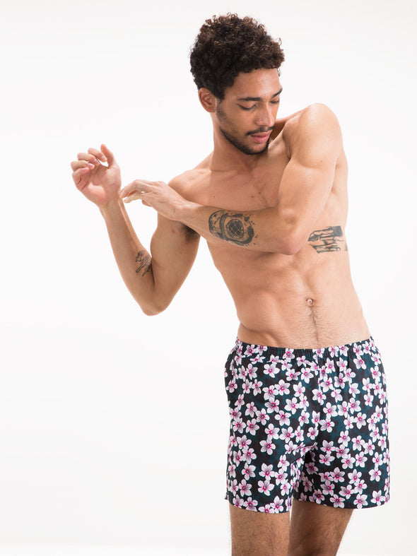 Cherry Blossom Runner Swim Shorts