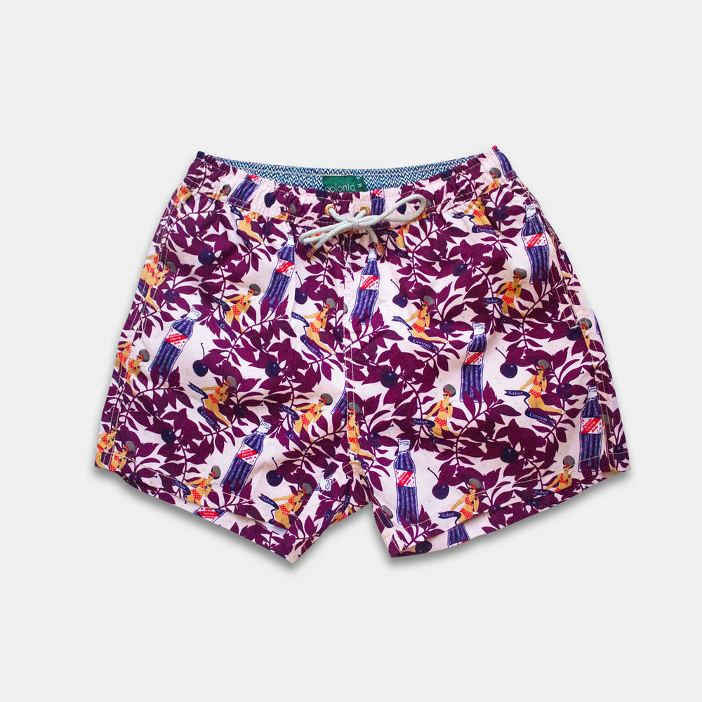 Classic - Cherry Soda Swim Trunks
