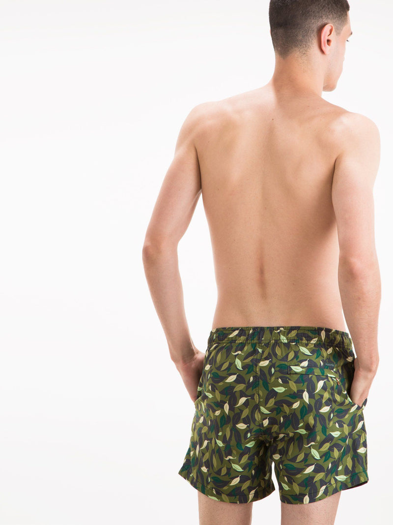 Classic - Leaf Camo Swim Trunks