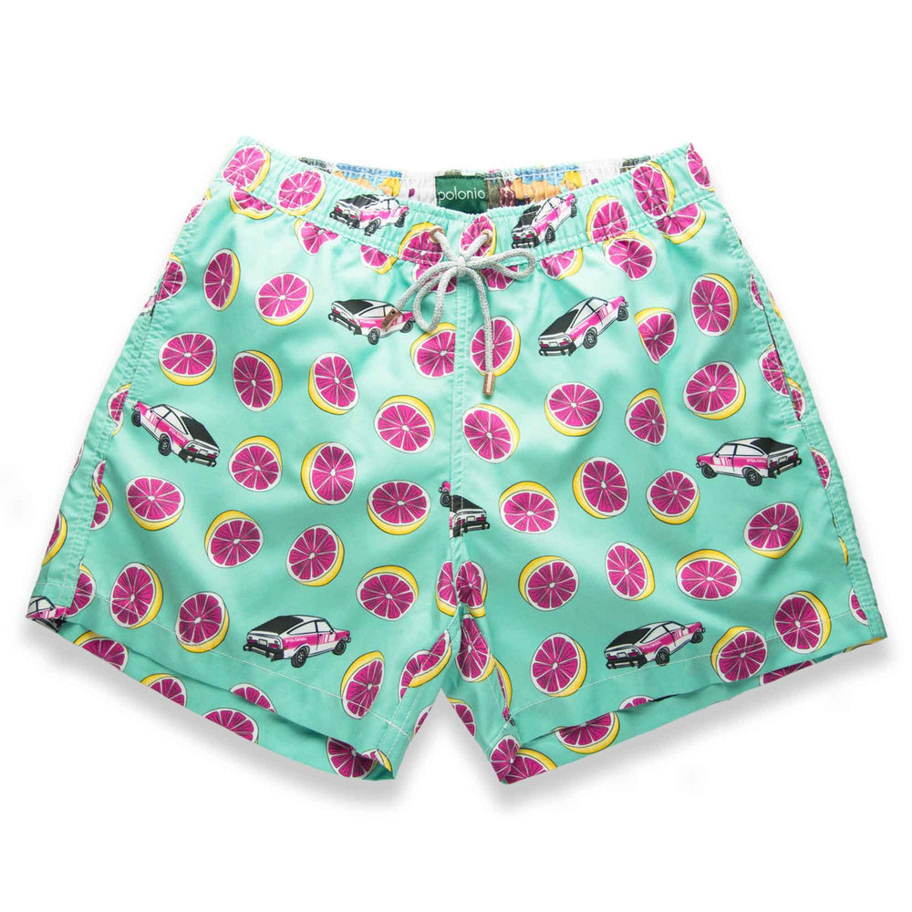 Classic - Pomelo Car 2 Swim Trunks