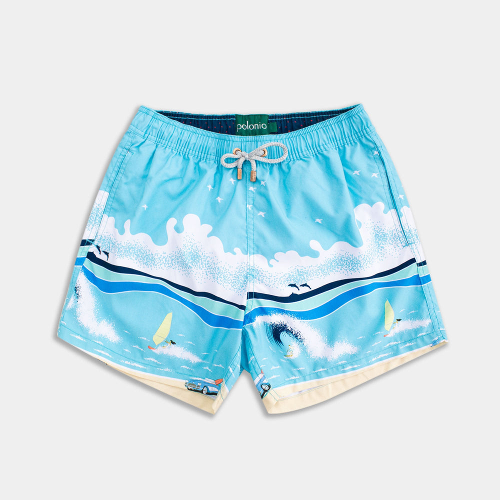 Classic - Surf Scene Swim Trunks