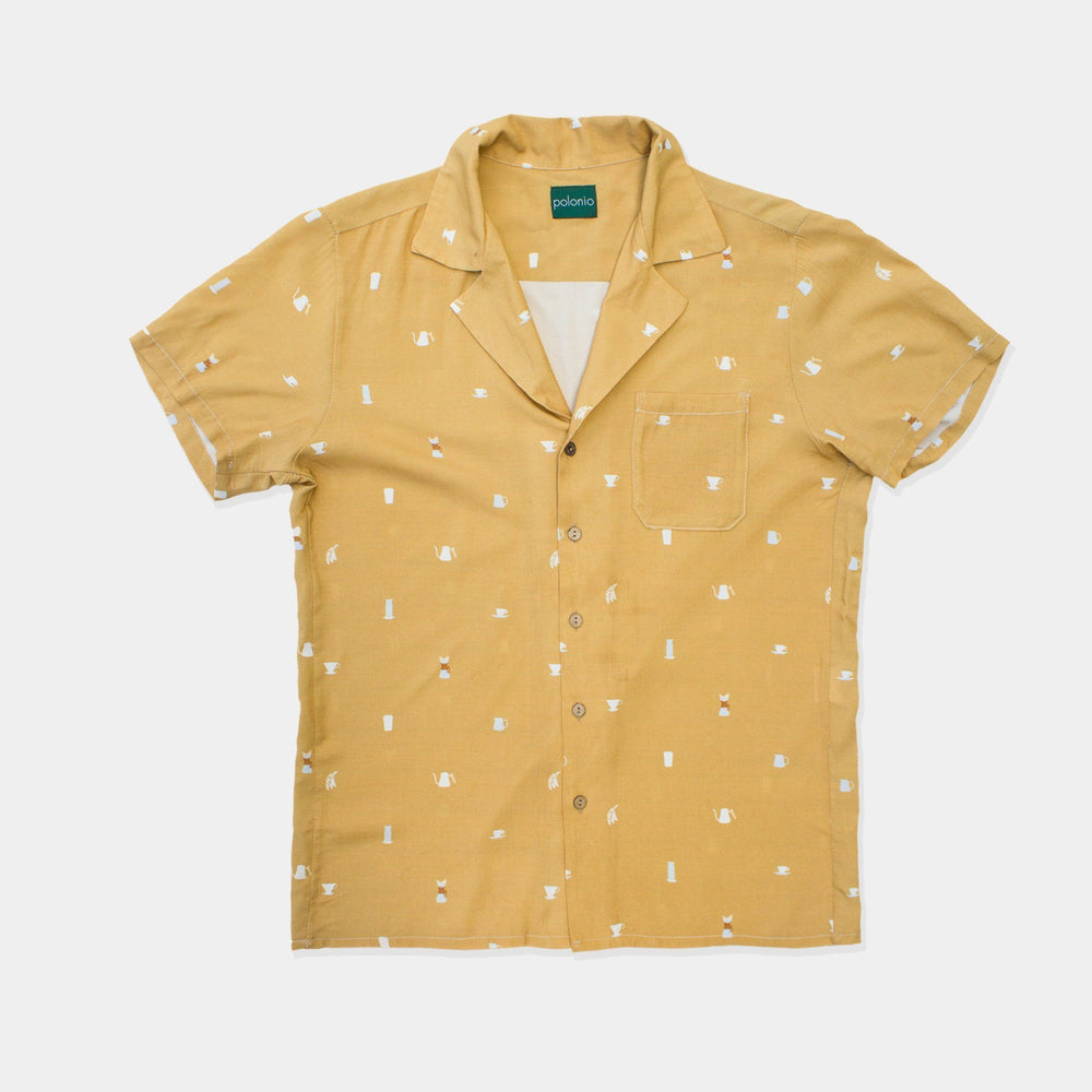 Coffee Snob Camp-Collar Shirt