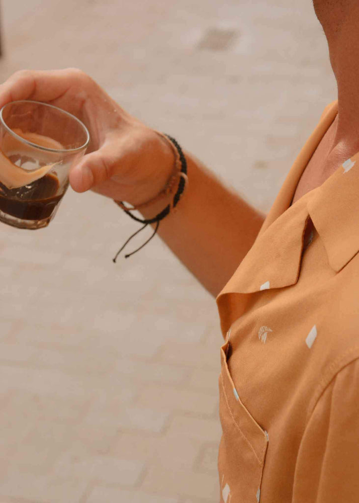 Load image into Gallery viewer, Coffee Snob Camp-Collar Shirt