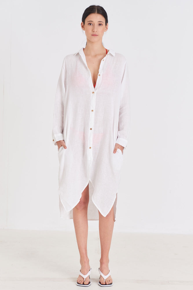 Load image into Gallery viewer, Linen Long Shirt
