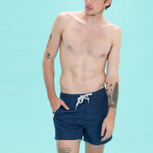 Load image into Gallery viewer, Navy Swim Trunks