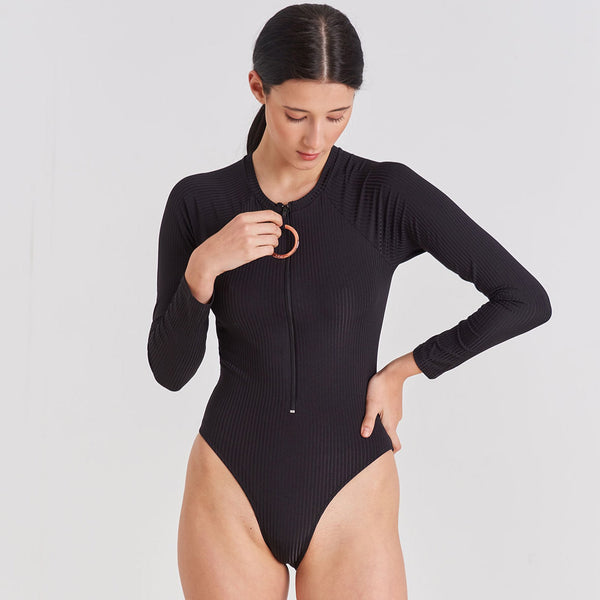 One Piece - Long Sleeve One Piece Swimsuit