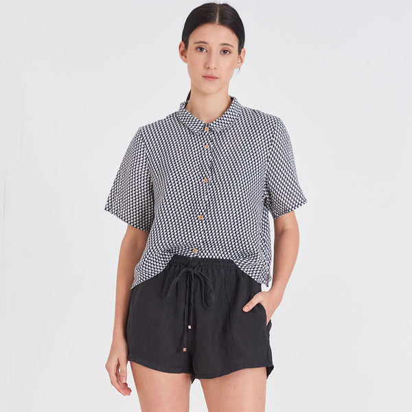 Short Sleeve Shirt - Linen Short Sleeve Shirt