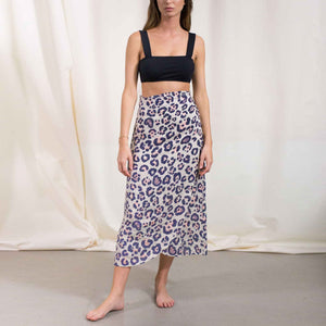 Load image into Gallery viewer, Spotted Linen Skirt