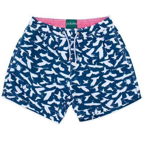 Swim Shorts - Bird Poop Swim Shorts (Navy)