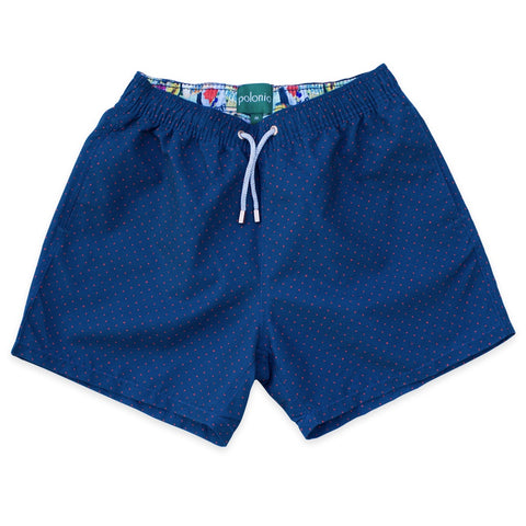 Swim Shorts - Scratch Dot Swim Shorts (Navy)