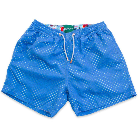 Swim Shorts - Scratch Dot Swim Shorts (Perfect Blue)