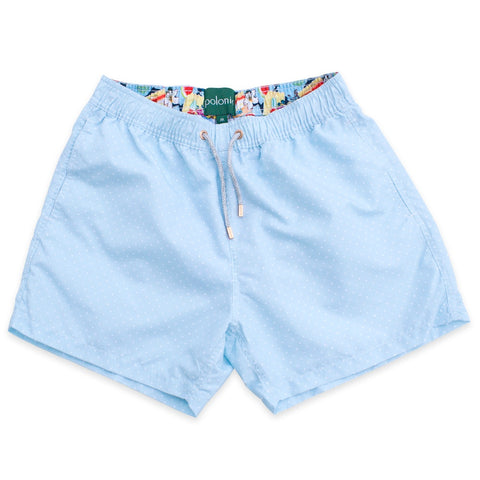 Swim Shorts - Scratch Dot Swim Shorts (Powder)