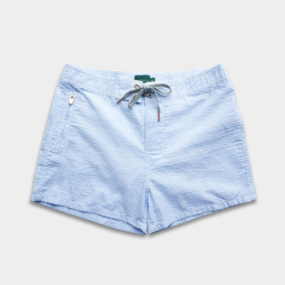 Trunk - Cotton Seersucker Swim Trunks