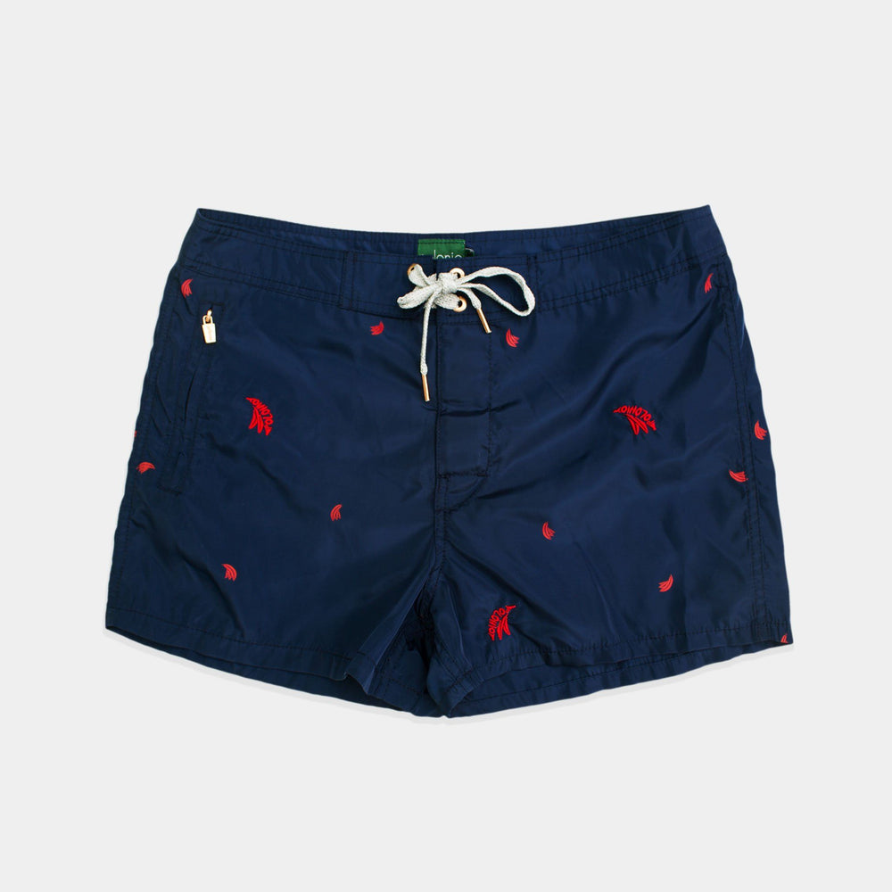 Trunk - Embroidered Swim Trunks