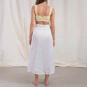 Load image into Gallery viewer, White Linen Skirt