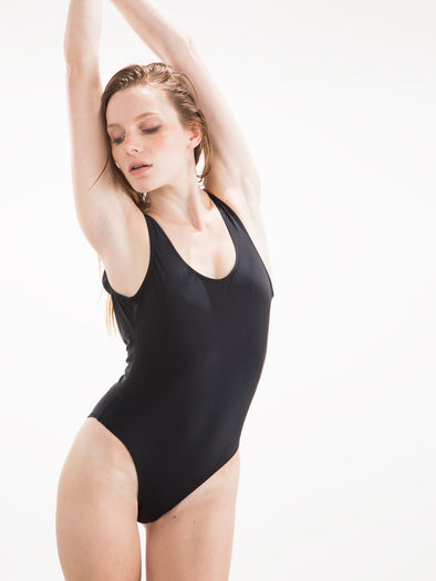Womens - 80's One Piece Black