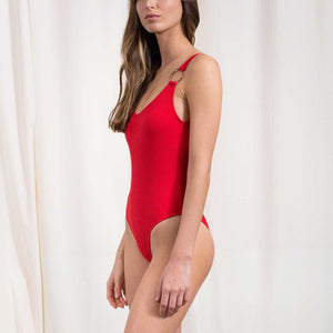 Load image into Gallery viewer, Womens - 80's Ring One Piece Swimsuit