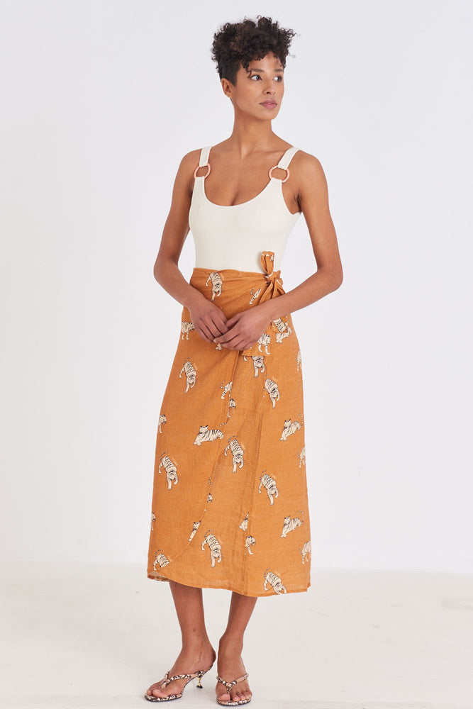 Load image into Gallery viewer, Womens - Linen Skirt