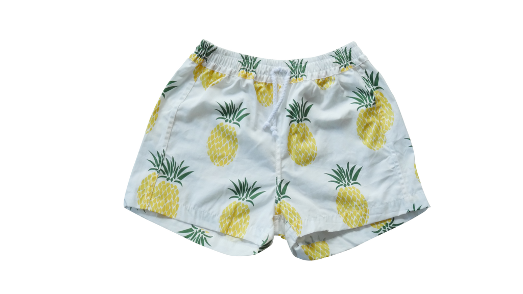 King Raja Organics - BABY Pineapple Walk Short/ Boardshort - 3-6m and 6-12m left