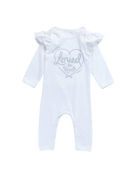 ALEX & ANT - Loved Romper - White - 0-3m left