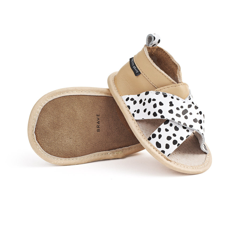 PRETTY BRAVE - CRISS-CROSS SANDAL WILD SPOTS - M (6-12m) available