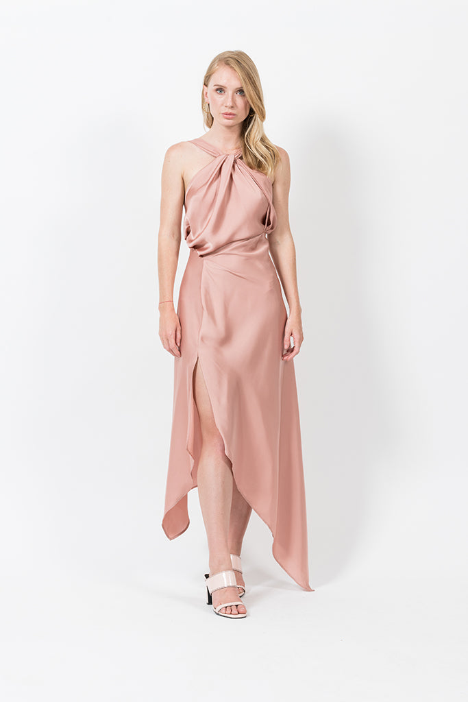 Audrey Dress in Dusty Rose
