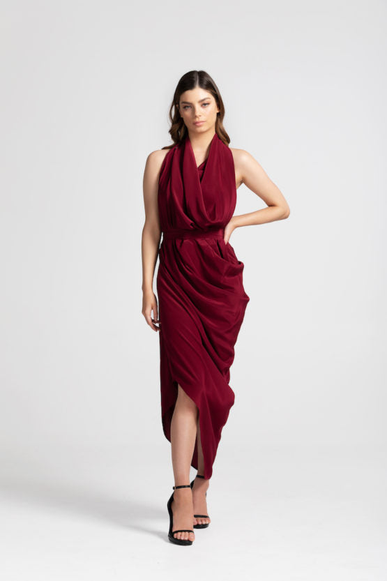 ERIN DRESS BLACK CHERRY