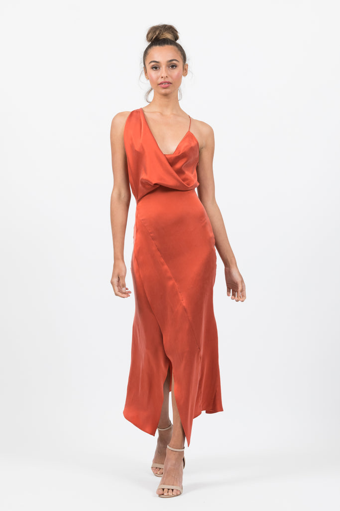 Muse Dress in Mars Silk