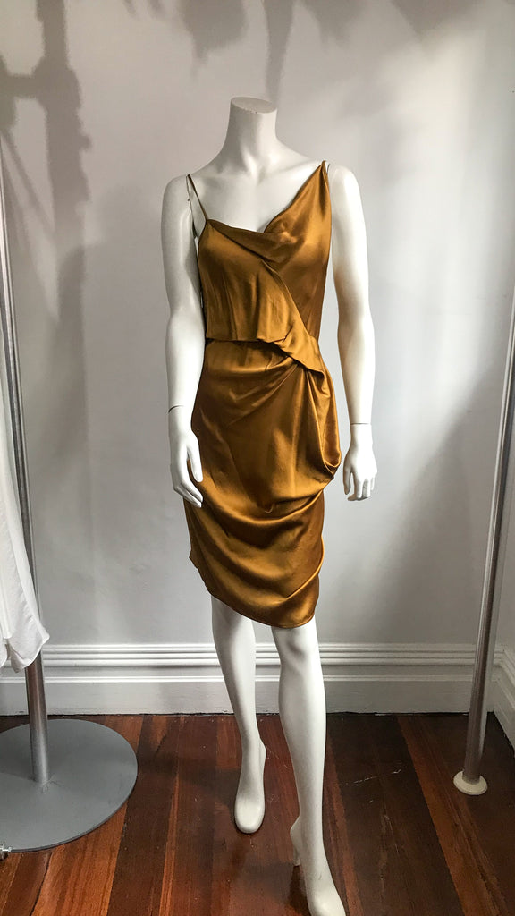 Out slip Gold Sand Silk