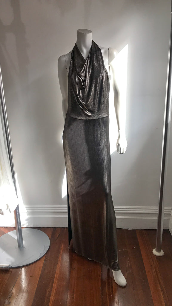 EMILY DRESS IN PEWTER