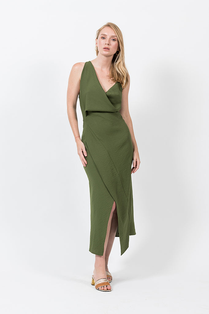 Muse Dress in Herb
