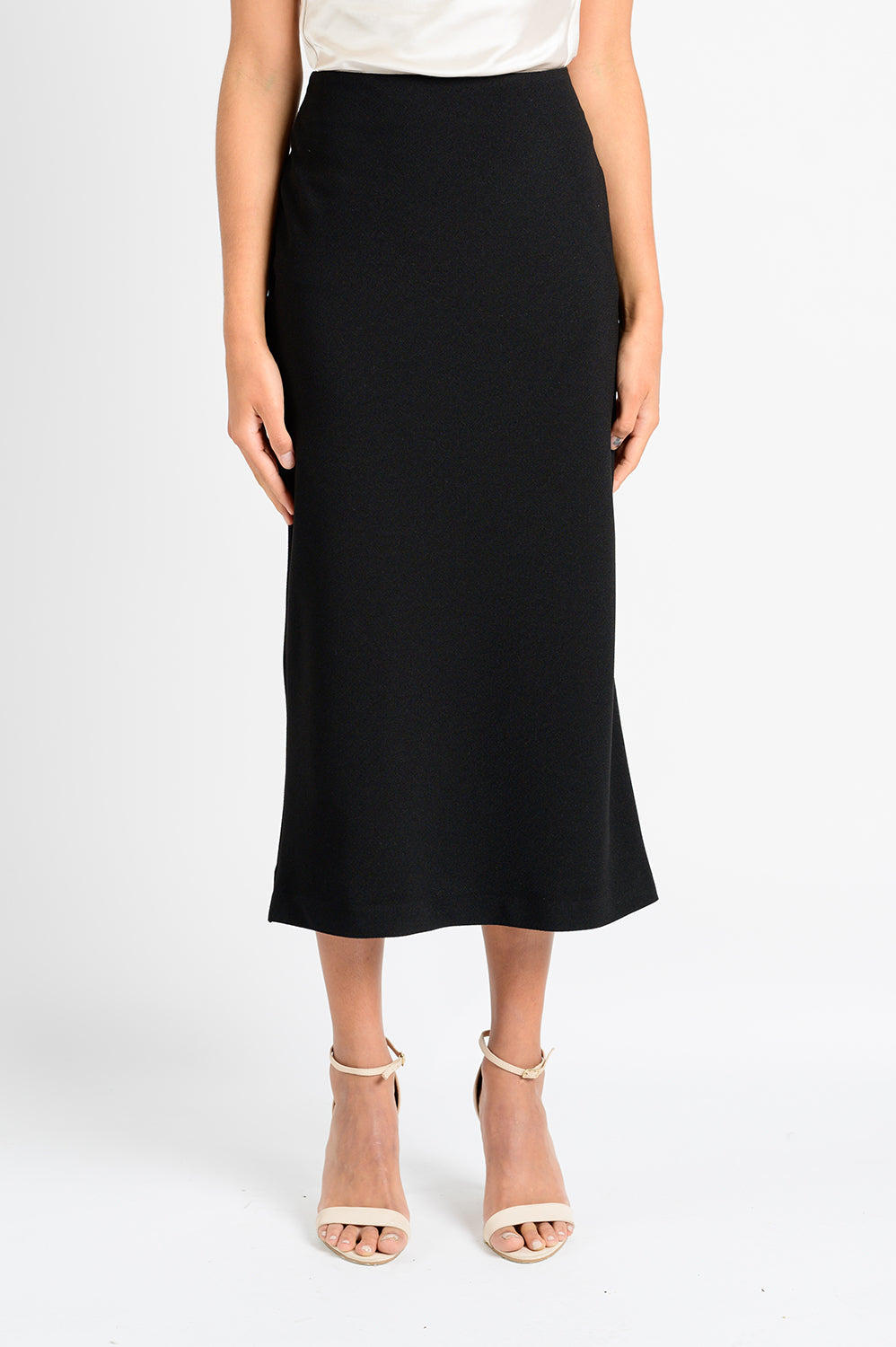 OFS BIAS SKIRT IN BLACK CREPE